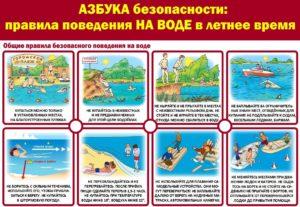 Правила поведения на воде в летнее время